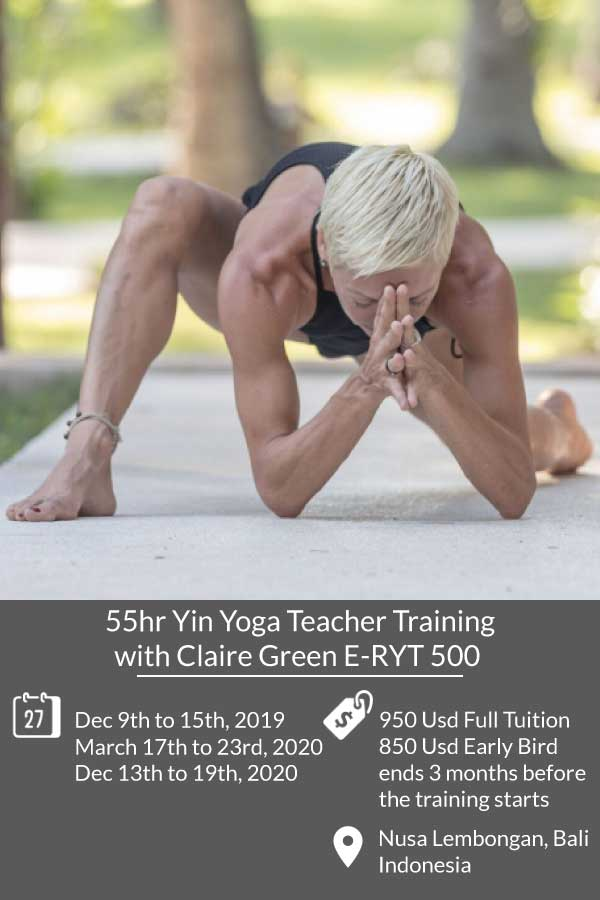 Yin Restorative Yoga Teacher training Course bali, how to teach yin yoga