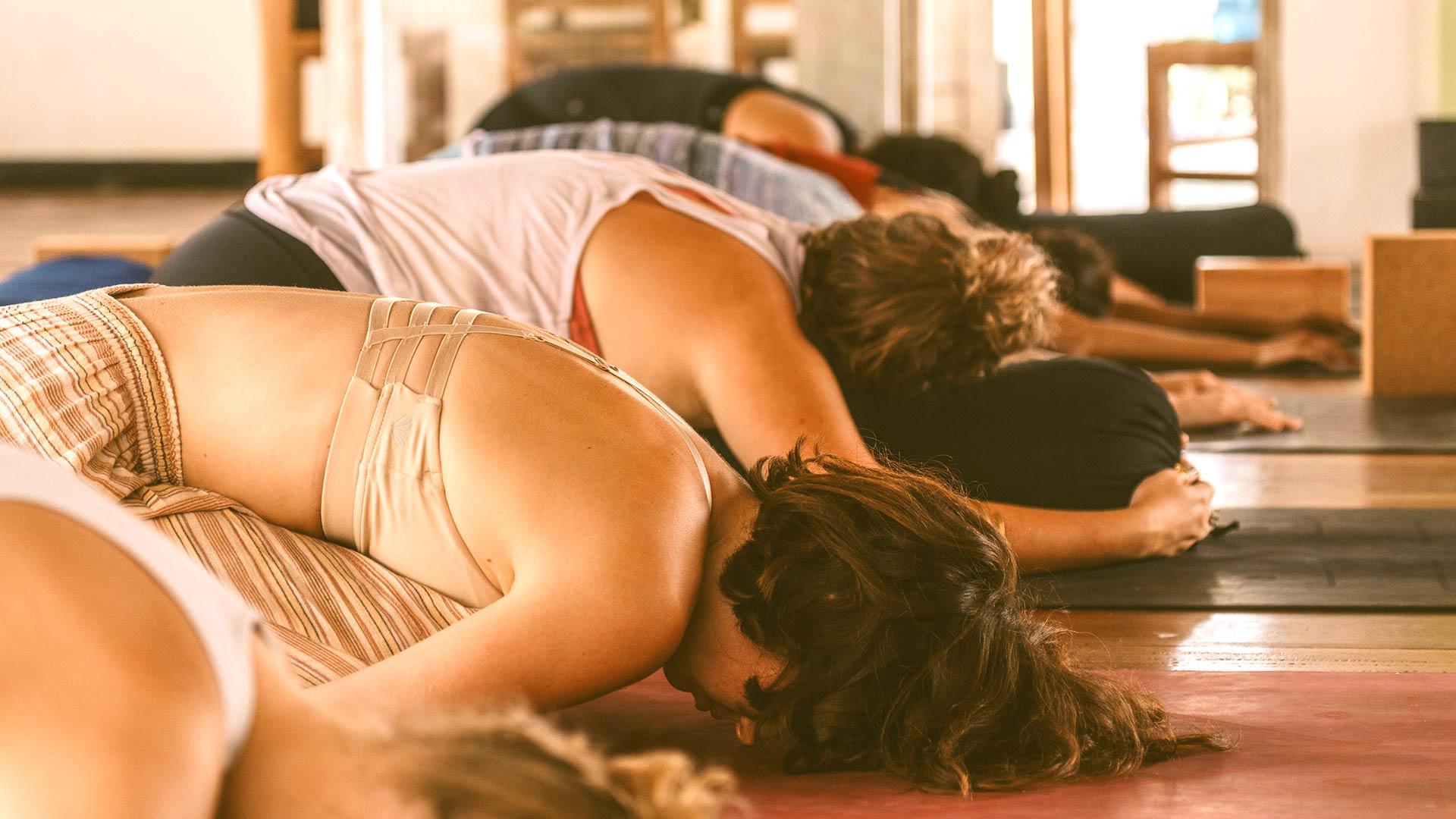 55 hr yin yoga course bali, child pose, continuing education