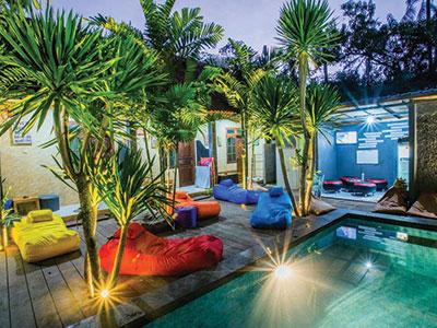 Pool Suba Homestay, dorm yoga class bali
